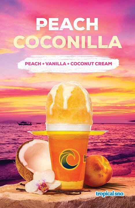 peach coconilla shaved ice