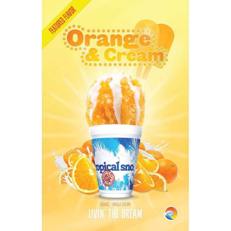 tropical sno flavors - orange & cream