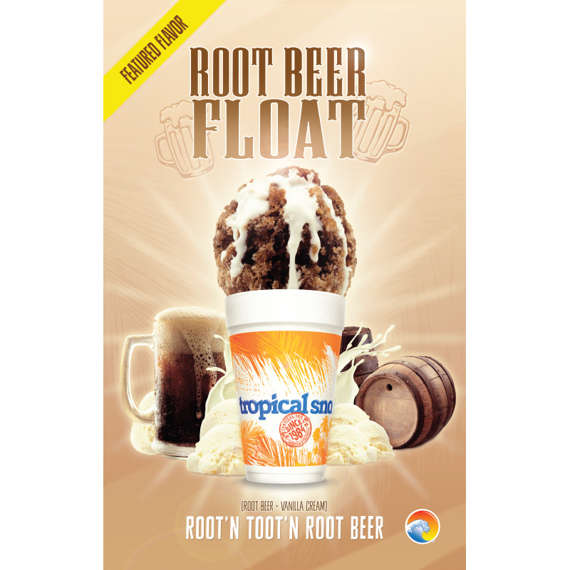 tropical sno flavors - rootbeer float